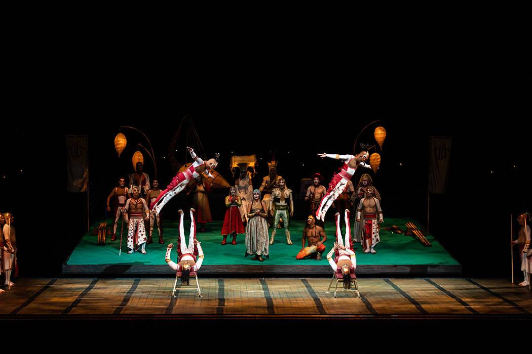 """Icarian Games es un nuevo acto incluído en el espectáculo """"KÀ by Cirque du Soleil"""". Foto ..."""