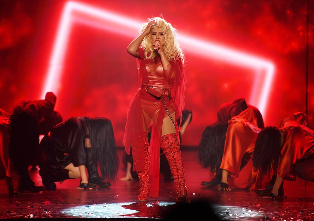 Christina Aguilera canta en la gran inauguración de su nuevo espectáculo en Las Vegas: THE XP ...