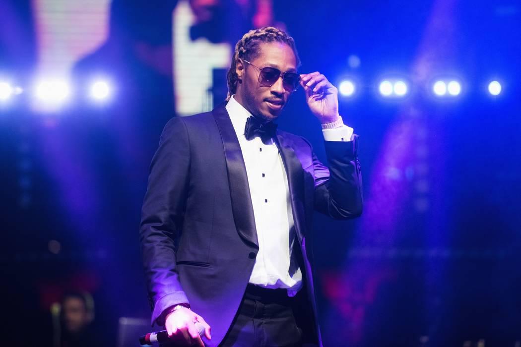 El rapero Future canta en el Club Nocturno Drai's en The Cromwell. (Michael Kirschbaum)