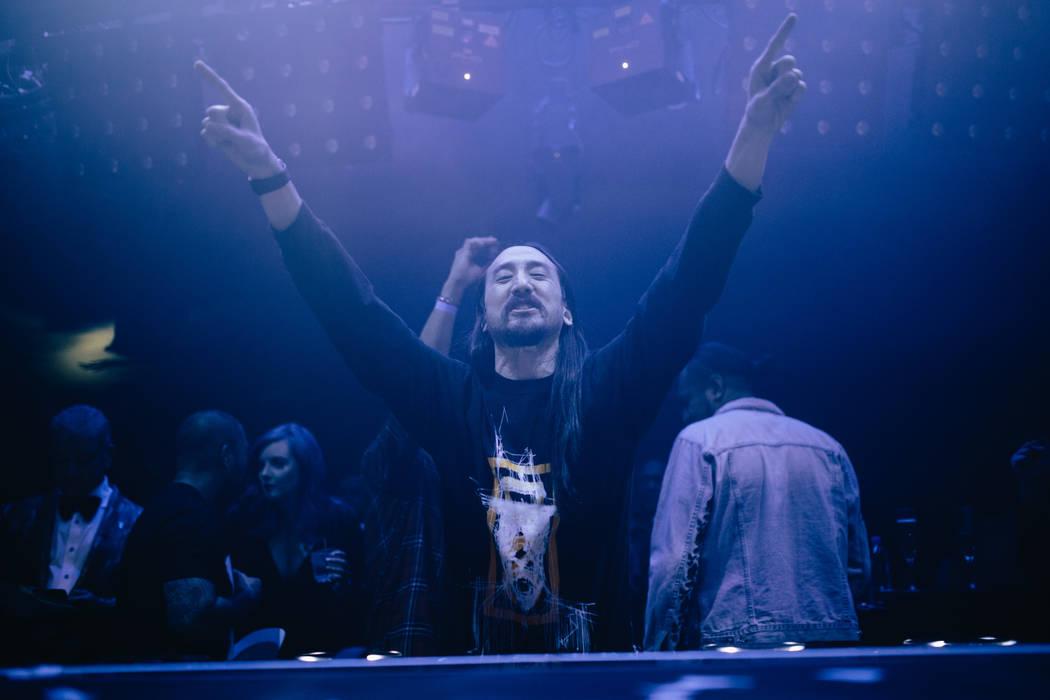 Steve Aoki en el Club Nocturno Hakkasan en la víspera de Año Nuevo. (Joe Janet)