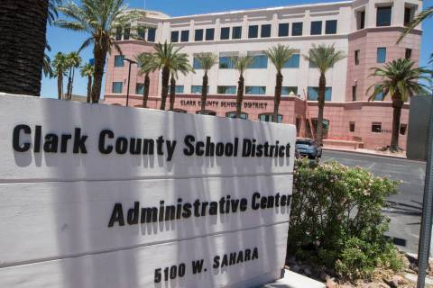 Archivo.- El edificio de administración del Distrito Escolar del Condado Clark, ubicado en 510 ...