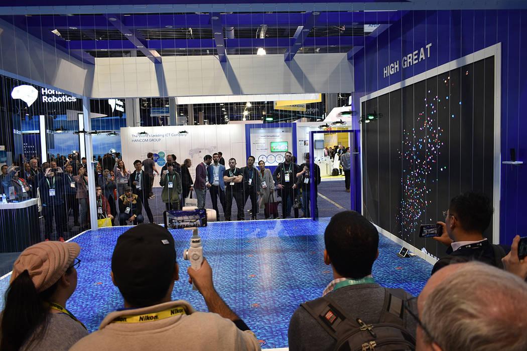"""La empresa china High Great aprovecho la CES 2020 para exponer la novedosa flota de drones """"G ..."""