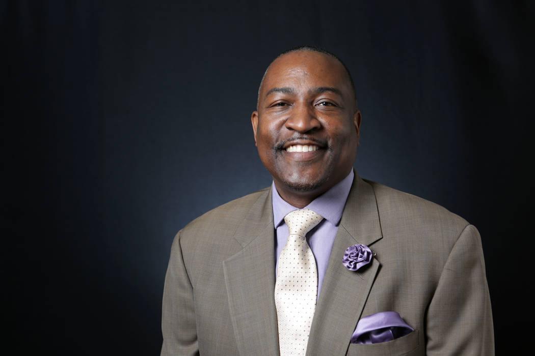 Tyrone Thompson, fotografiado en las oficinas del Las Vegas Review-Journal el lunes, 23 de abri ...