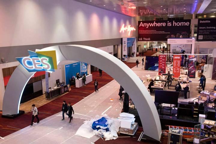 CES en el Centro de Convenciones de Las Vegas el domingo, 5 de enero de 2020 en Las Vegas. (Ell ...