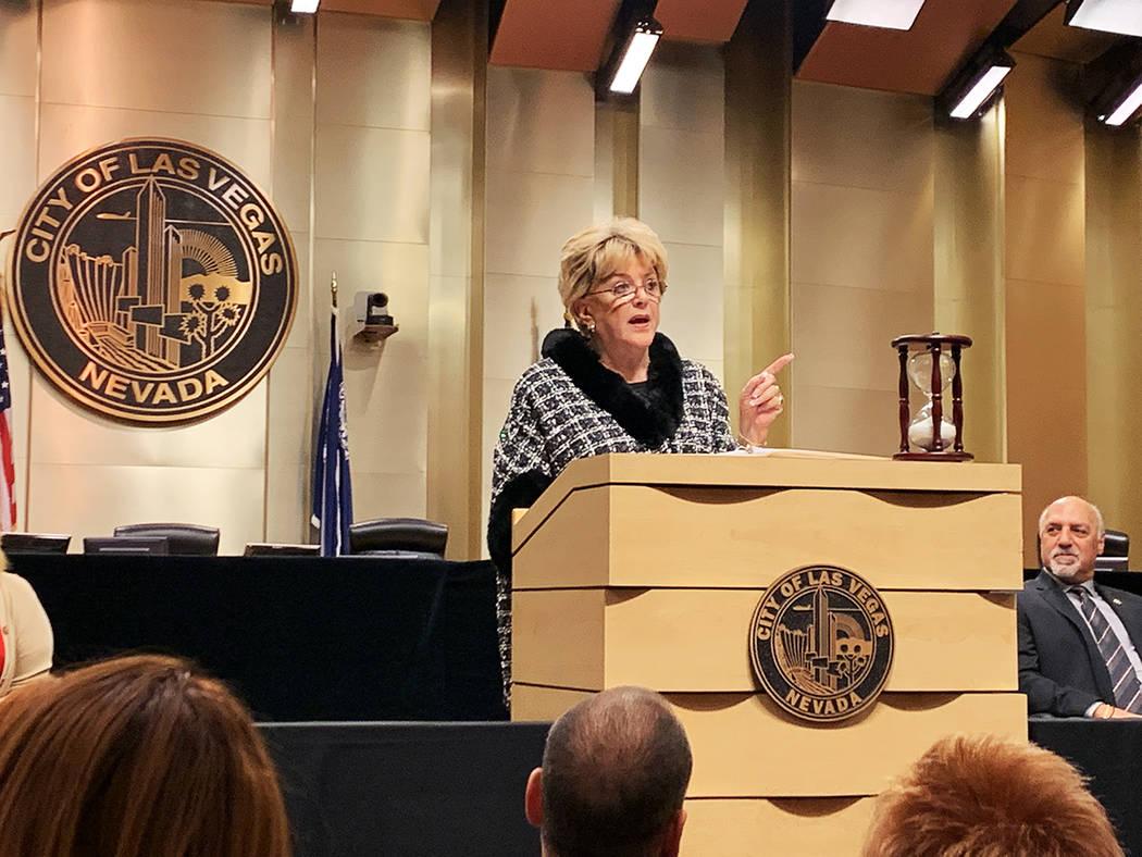 La alcaldesa de Las Vegas, Carolyn Goodman, informó que ha recibido 25 nuevos proyectos para e ...