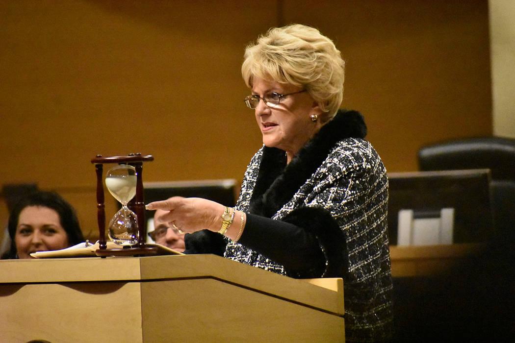 La alcaldesa de Las Vegas, Carolyn Goodman, ofreció su Informe de Gobierno (State of te City) ...