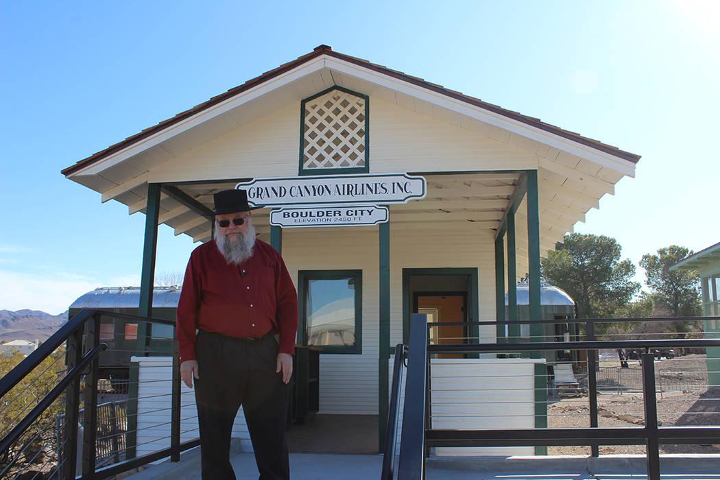 La casa de la primera pareja establecida en Boulder City y oficina de Grand Canyon Airlines ser ...