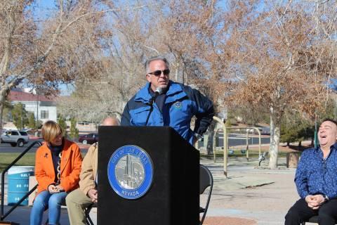 El alguacil Joe Lombardo encabezó el evento con un agradecimiento a su equipo. Sábado 11 de e ...