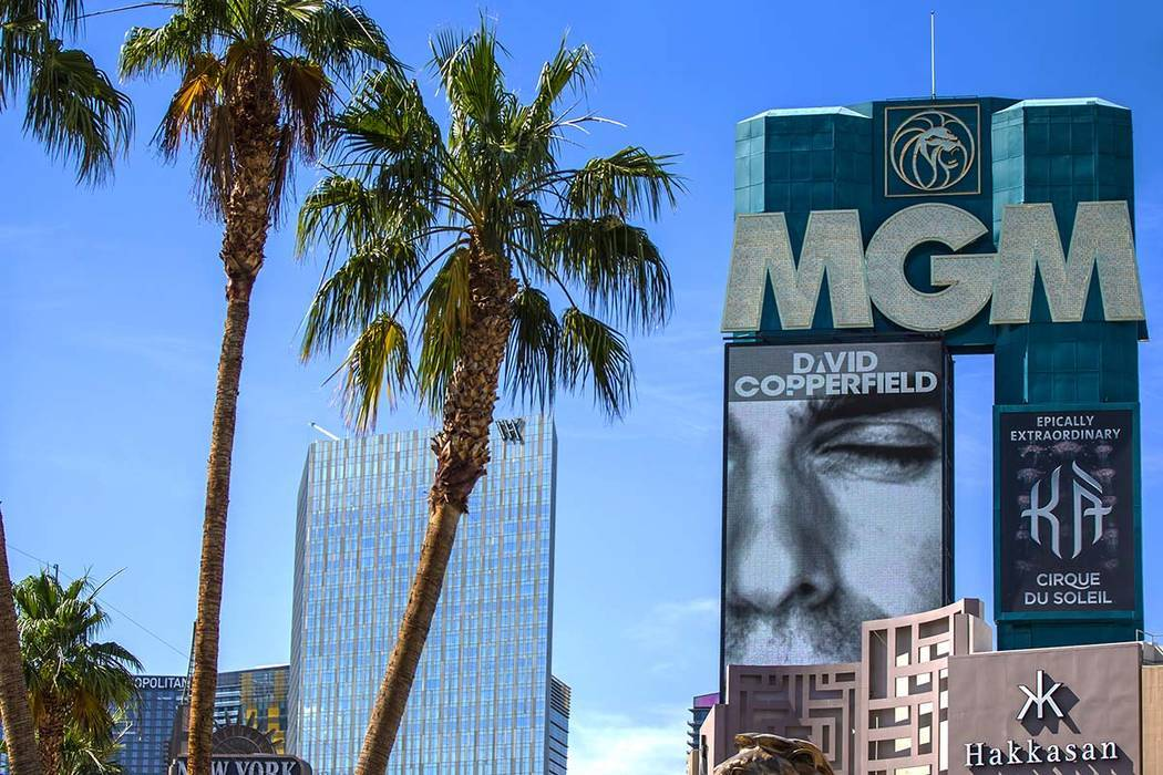MGM Grand en el Strip de Las Vegas (Benjamin Hager/Las Vegas Review-Journal) @benjaminhphoto