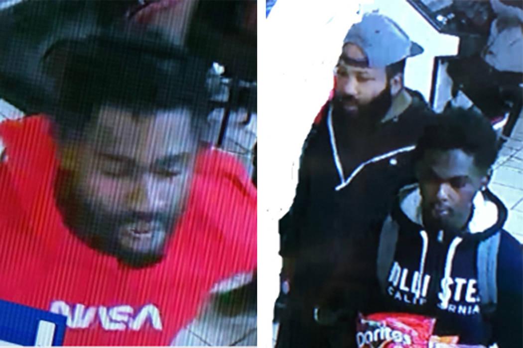 La policía busca a tres hombres en relación con un robo a mano armada el sábado, 28 de dicie ...