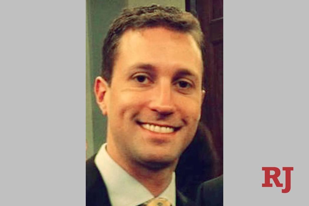 El consultor del Partido Republicano, Benjamin Sparks. (Foto obtenida por Las Vegas Review-Jour ...