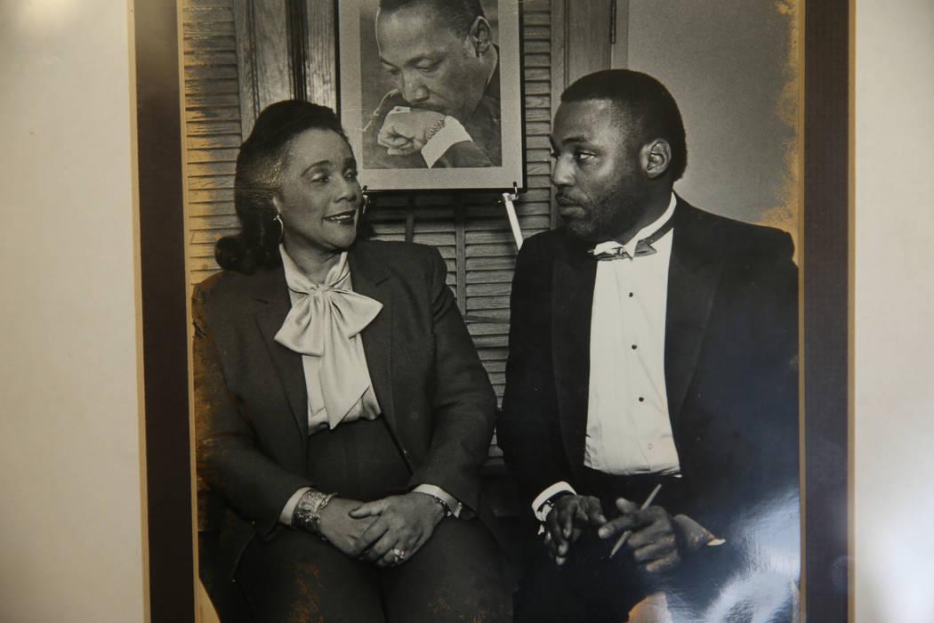 La viuda del asesinado líder de los derechos civiles Dr. Martin Luther King Junior, Coretta Sc ...