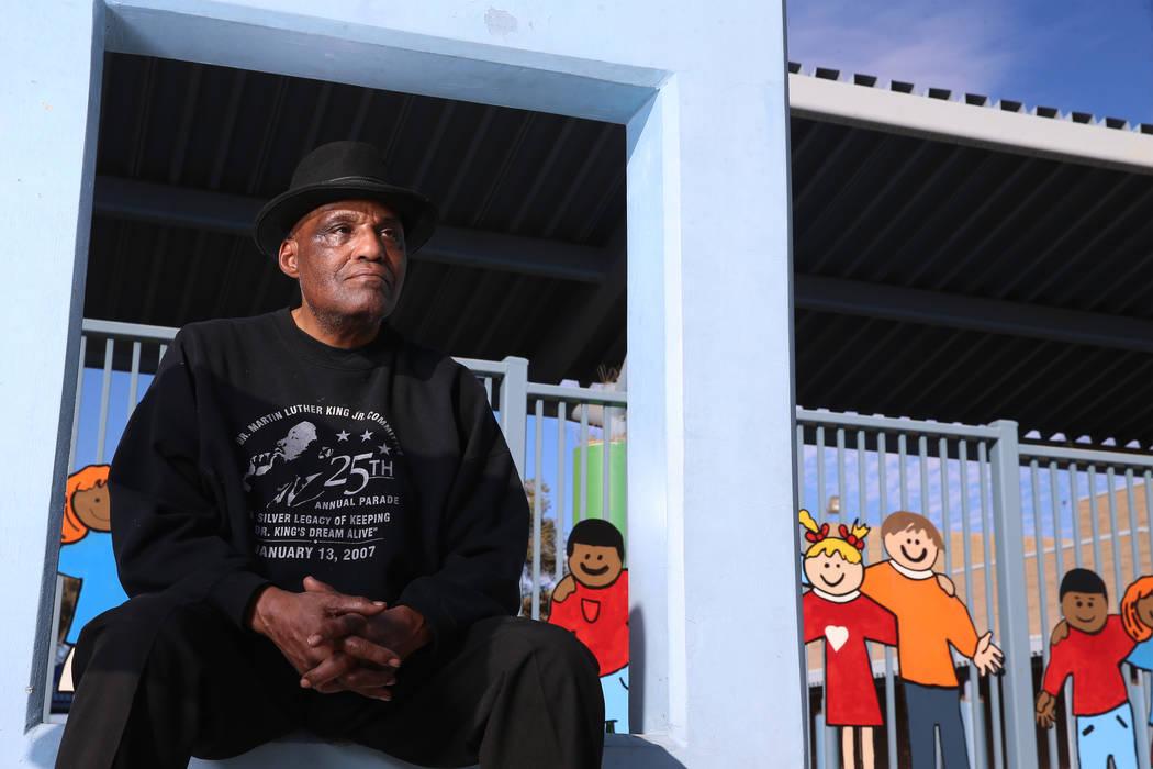 Wendell P. Williams es fotografiado en Wendell Williams Elementary en Las Vegas el jueves, 16 d ...
