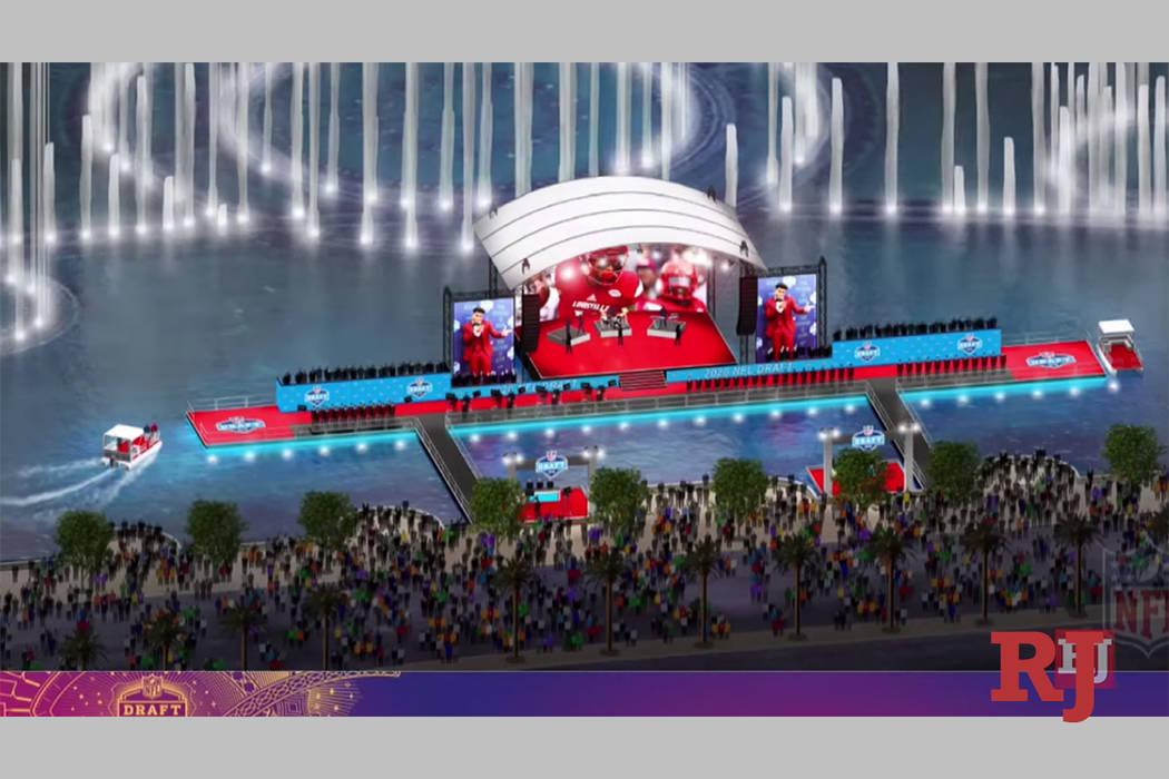 Representación de los planes para el Draft de la NFL 2020 en Las Vegas. (NFL)