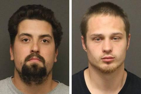 Robert Ángel Flores, izquierda, y Justin Victor Storm Hyde (Oficina del Alguacil del Condado d ...