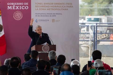 ARCHIVO. Huehuetoca, 23 Dic 2019 (Notimex-Gerardo Luna).- El presidente Andrés Manuel López O ...