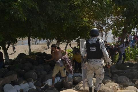 ARCHIVO. Chiapas, 20 Ene 2020 (Notimex-Especial).- La caravana migrante de centroamericanos lle ...