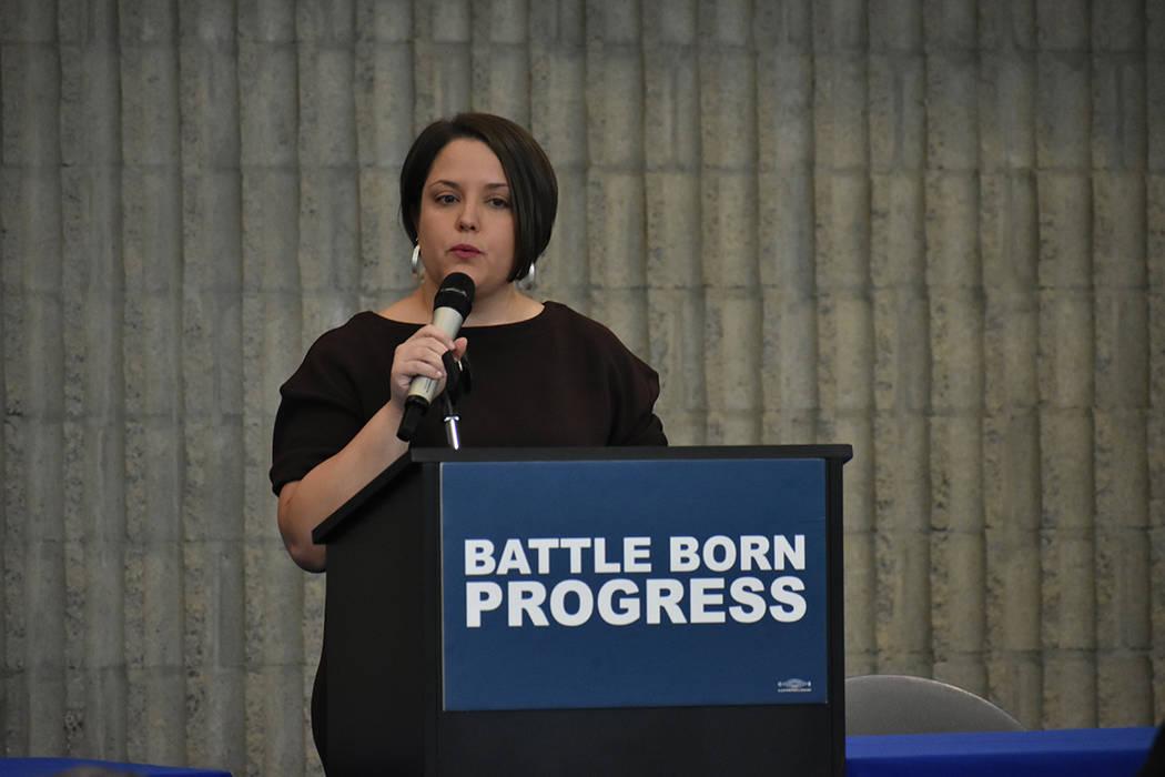 La directora de Battle Born Progress, Annette Magnus, dirigió la Cumbre Progresista 2020 (Prog ...