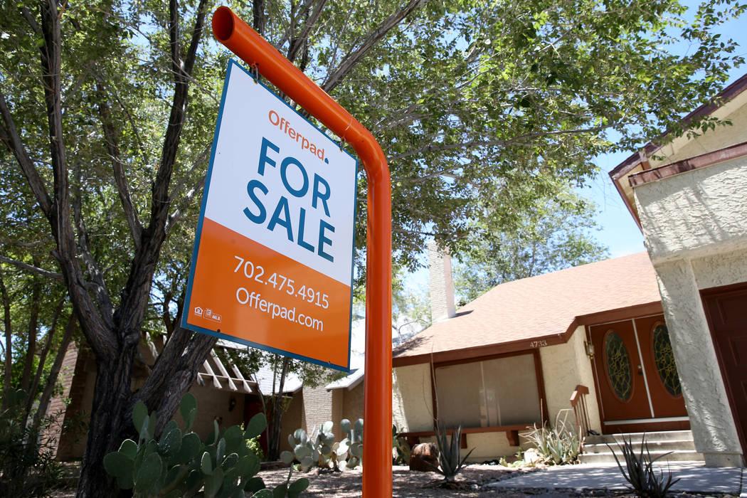 Los precios de las casas en el área de Las Vegas subieron a una de las tasas más lentas de la ...