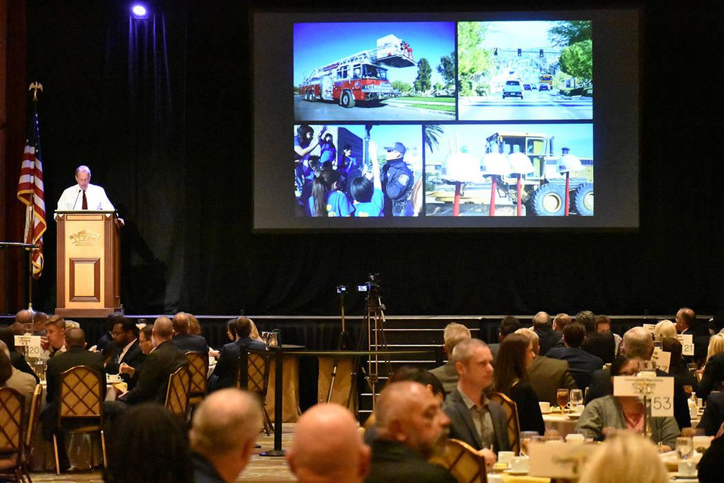 Cientos de personas acudieron al Informe de Gobierno de North Las Vegas, ofrecido por el alcald ...