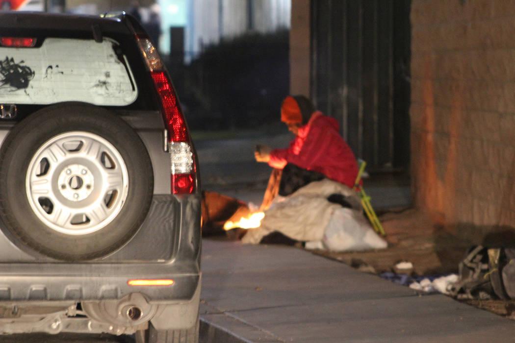 El conteo incluyó refugios y calles. Jueves 30 de enero de 2020 al norte de Las Vegas Boulevar ...