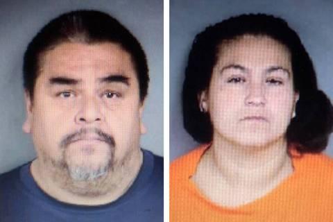 Raúl Ramos, izquierda, y Adriana Hernández. (Departamento de Policía de North Las Vegas)