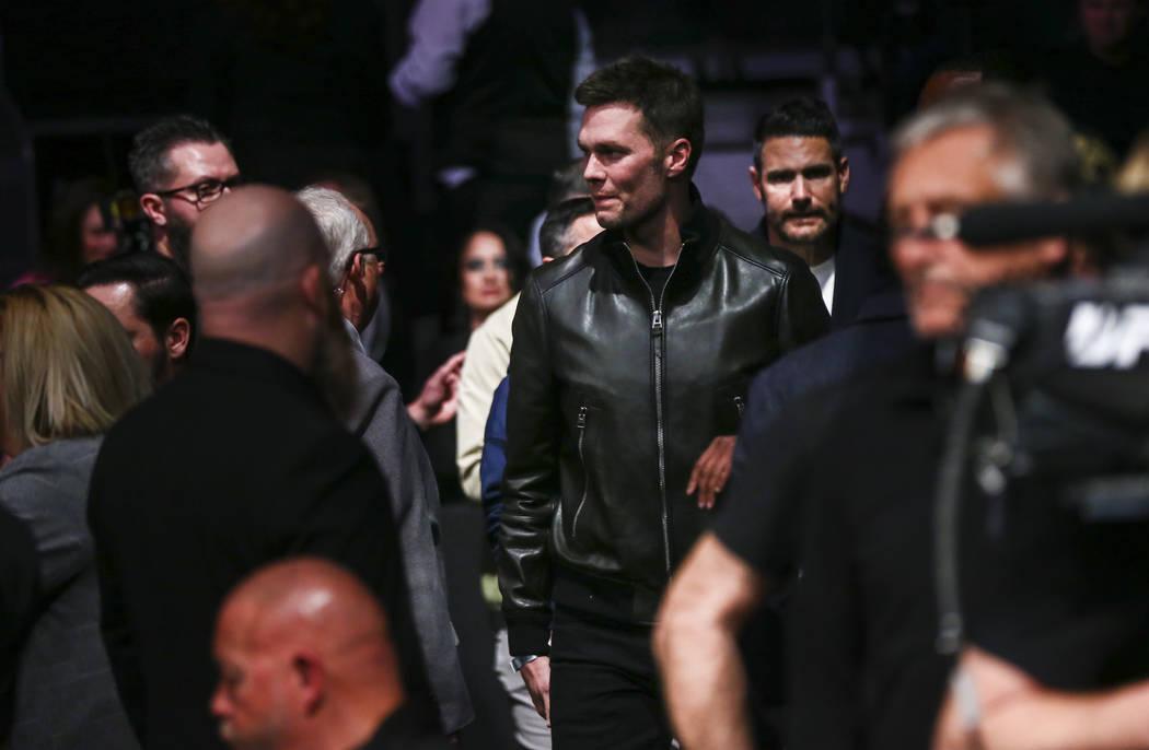 Tom Brady llega a ver la UFC 246 en T-Mobile Arena de Las Vegas el sábado, 18 de enero de 2020 ...