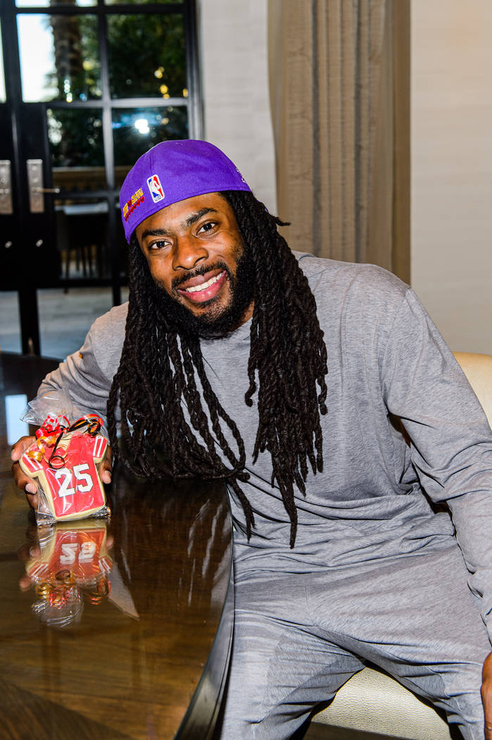 El DB Richard Sherman de los San Francisco 49ers en The Venetian el lunes, 3 de febrero de 2020 ...