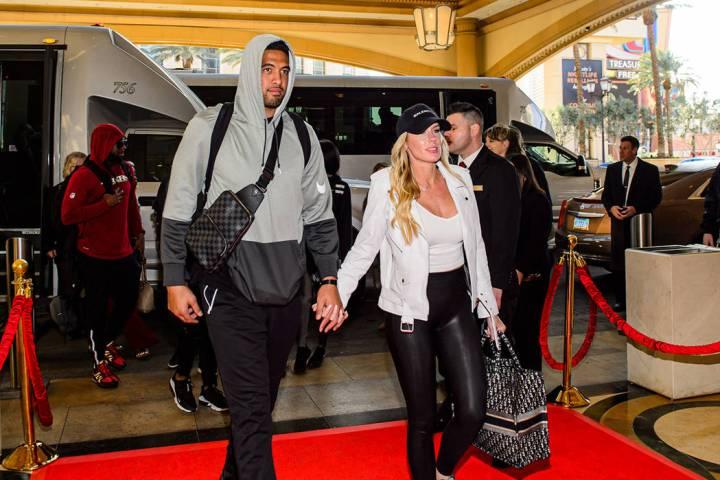 Fred Warner de los 49ers de San Francisco estuvo en The Venetian el lunes, 3 de febrero de 2020 ...