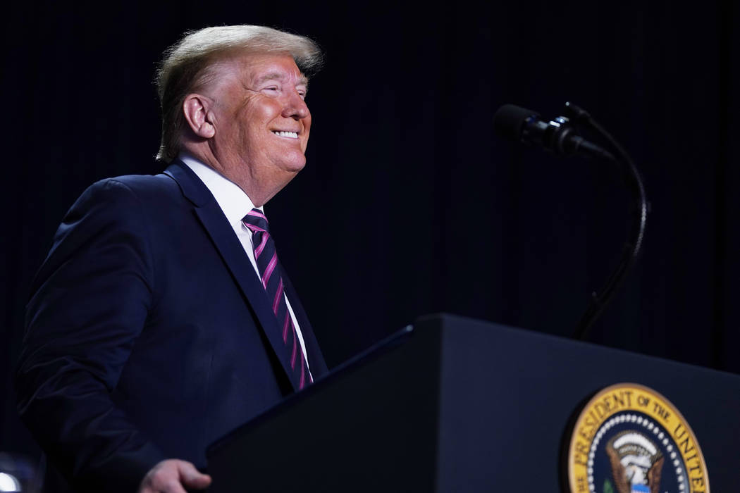 El presidente Donald Trump habla en el 68º Desayuno Nacional de Oración, en el Washington Hil ...