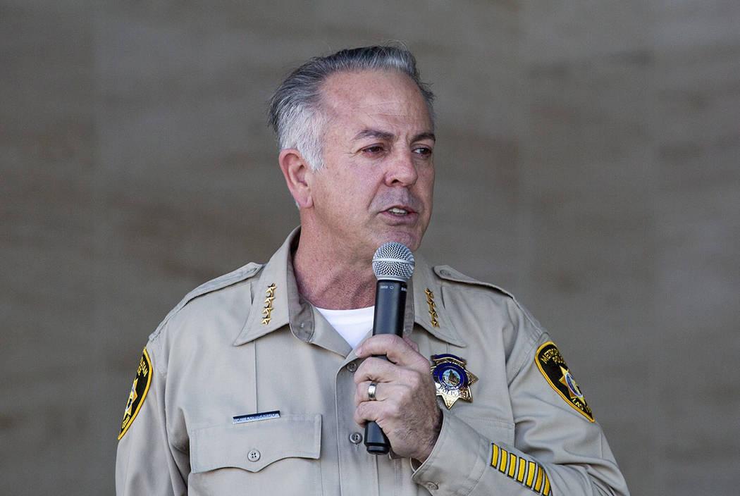 El Alguacil Joseph Lombardo. (Elizabeth Page Brumley /Las Vegas Review-Journal)