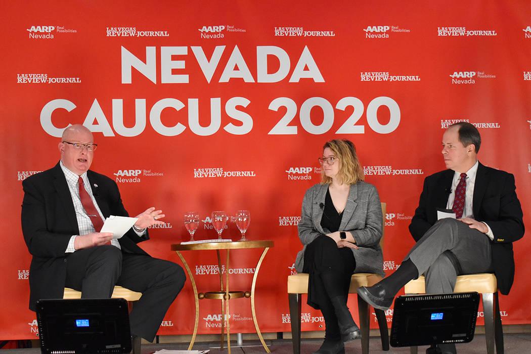 AARP Nevada, en asociación con Las Vegas Review-Journal, invitaron a electores a una sesión i ...