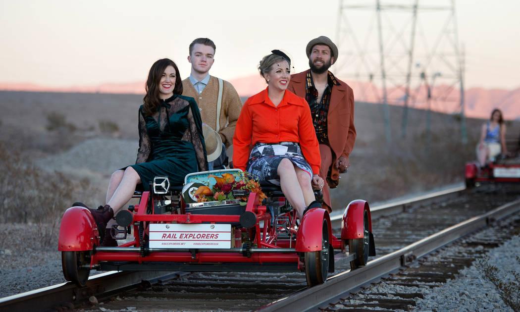Rail Explorers Las Vegas, la atracción al aire libre con bicicletas de ferrocarril a pedal, of ...