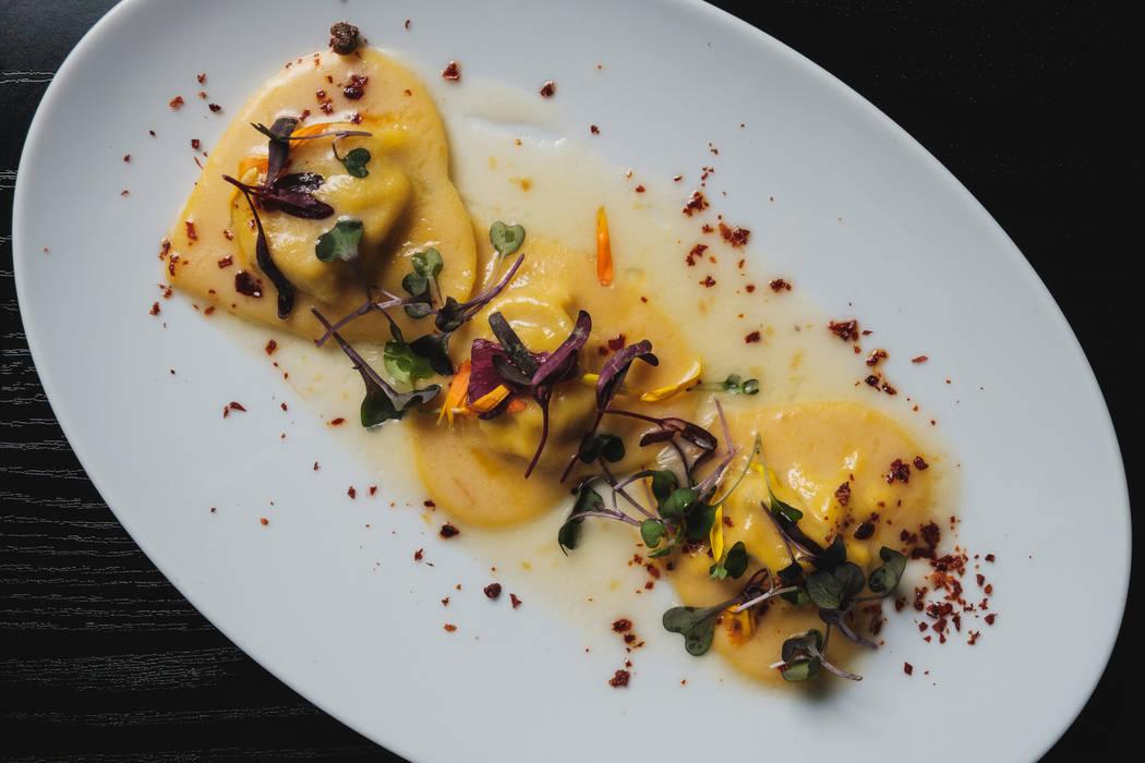 Anolini de mariscos en forma de corazón en Locale Italian Kitchen. (Eugene Dela Cruz)
