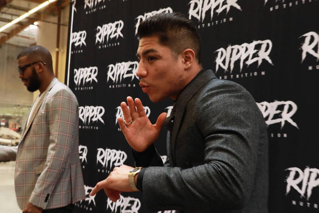 Jessie Vargas realiza un entrenamiento abierto a los medios de comunicación en Las Vegas, el j ...