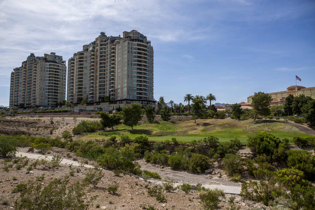 El sitio de 250 acres del campo de golf cerrado Badlands, visto en 2017. (Las Vegas Review-Journal)