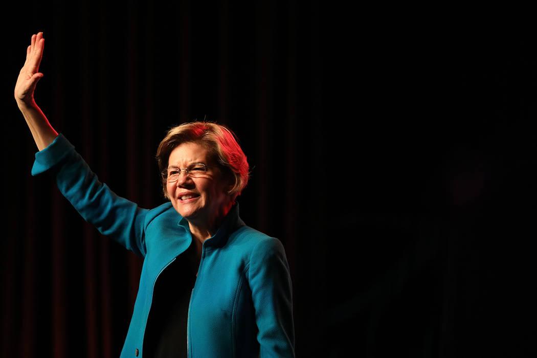 La Senadora Elizabeth Warren habla durante una reunión de Care in Action Domestic Worker en el ...