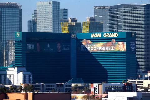MGM Grand casino-hotel en Las Vegas, martes 14 de enero de 2020. (Erik Verduzco / Las Vegas Rev ...
