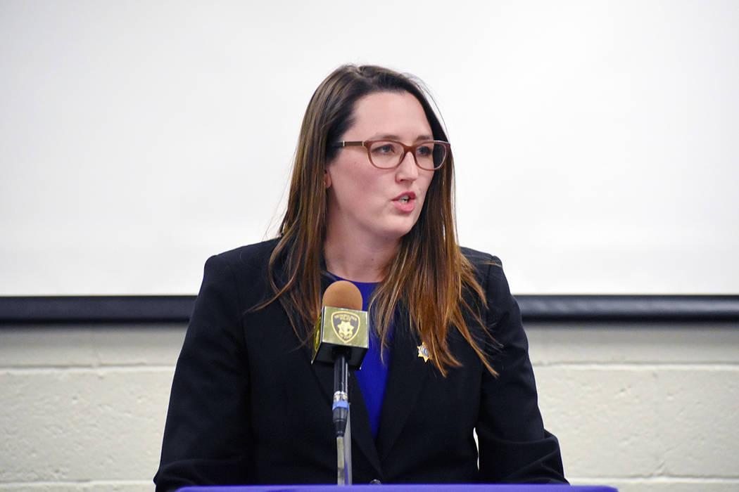 Alissa Engler, Senior Deputy Attorney General de la oficina del Procurador de Justicia de Nevad ...