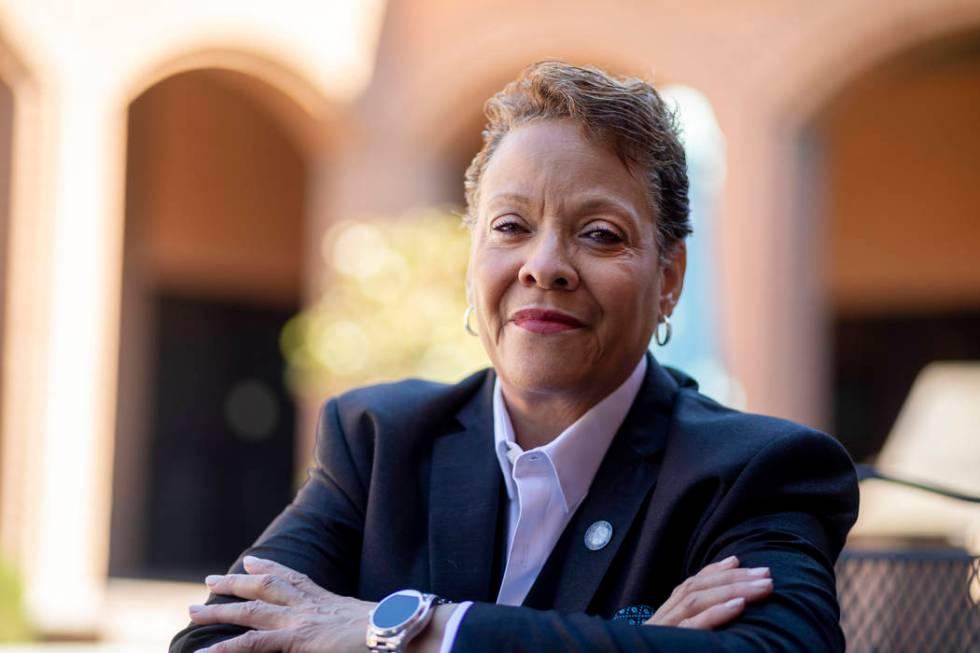 La senadora de Nevada, Pat Spearman, demócrata por North Las Vegas, posa para un retrato en La ...