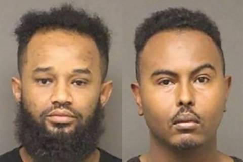 Beyan Mohammed Beyan, izquierda, y Samatar Shafi Ahmed (Departamento de Policía de Bullhead City).