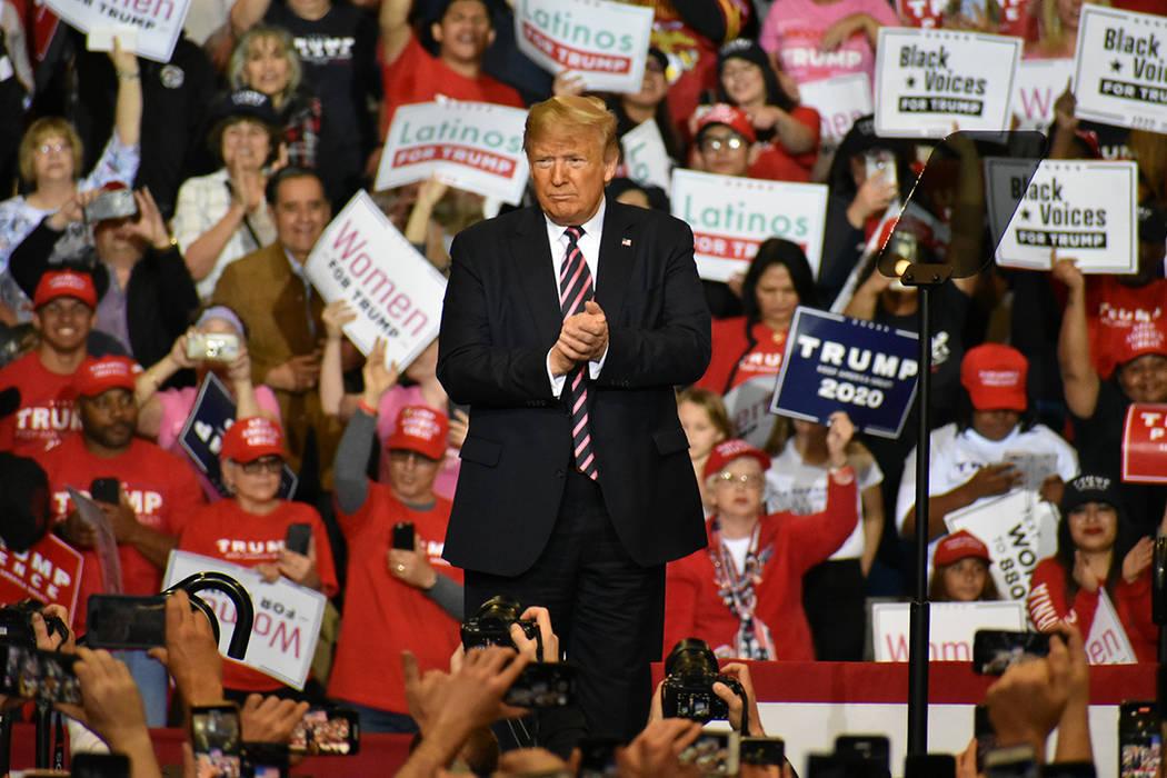 """El presidente Donald J. Trump encabezó el mitin de campaña """"Keep America Great"""". Viernes ..."""