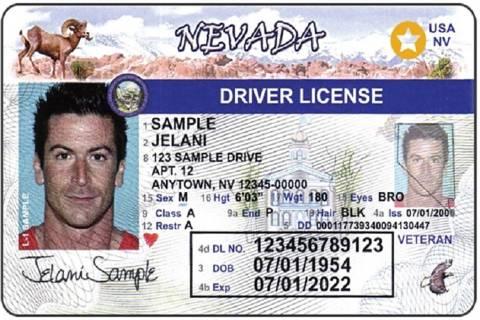 Ejemplo de una Real ID de Nevada. (DMV de Nevada)