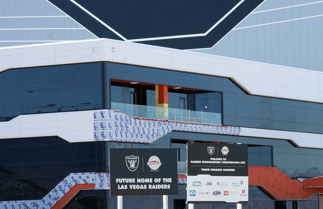 Las instalaciones de práctica de los Raiders en Henderson fotografiadas el lunes, 24 de febrer ...