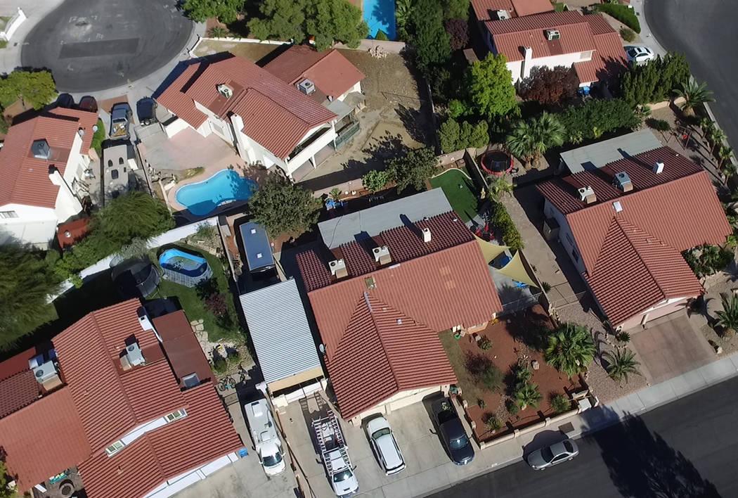 Casas unifamiliares en Summerlin el viernes, 11 de octubre de 2019. (Bizuayehu Tesfaye/Las Vega ...