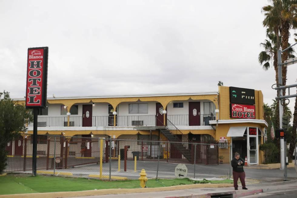 El Hotel Casa Blanca en 2401 N. Las Vegas Blvd. en North Las Vegas el lunes, 23 de diciembre de ...
