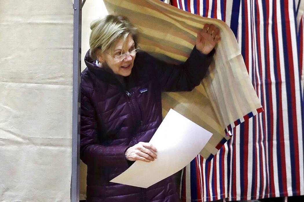 La candidata presidencial demócrata, la senadora Elizabeth Warren, demócrata por Massachusett ...