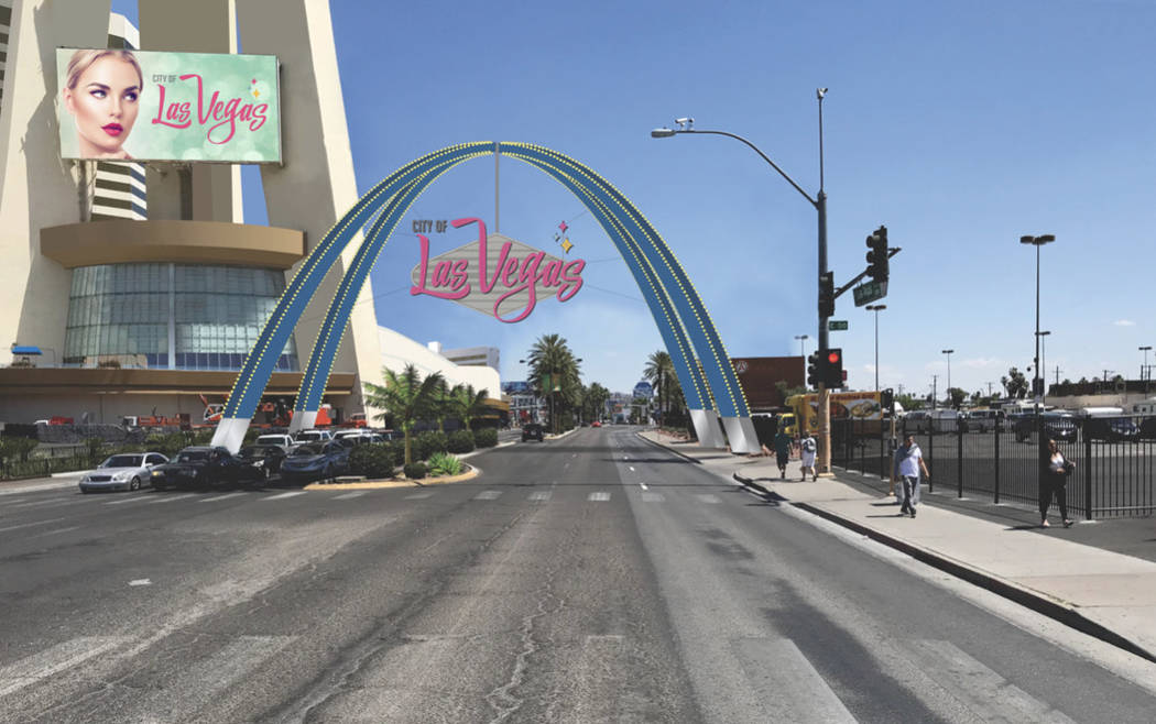 El trabajo en los arcos de 6.5 millones de dólares, de 80 pies de altura, comenzará el 16 de ...