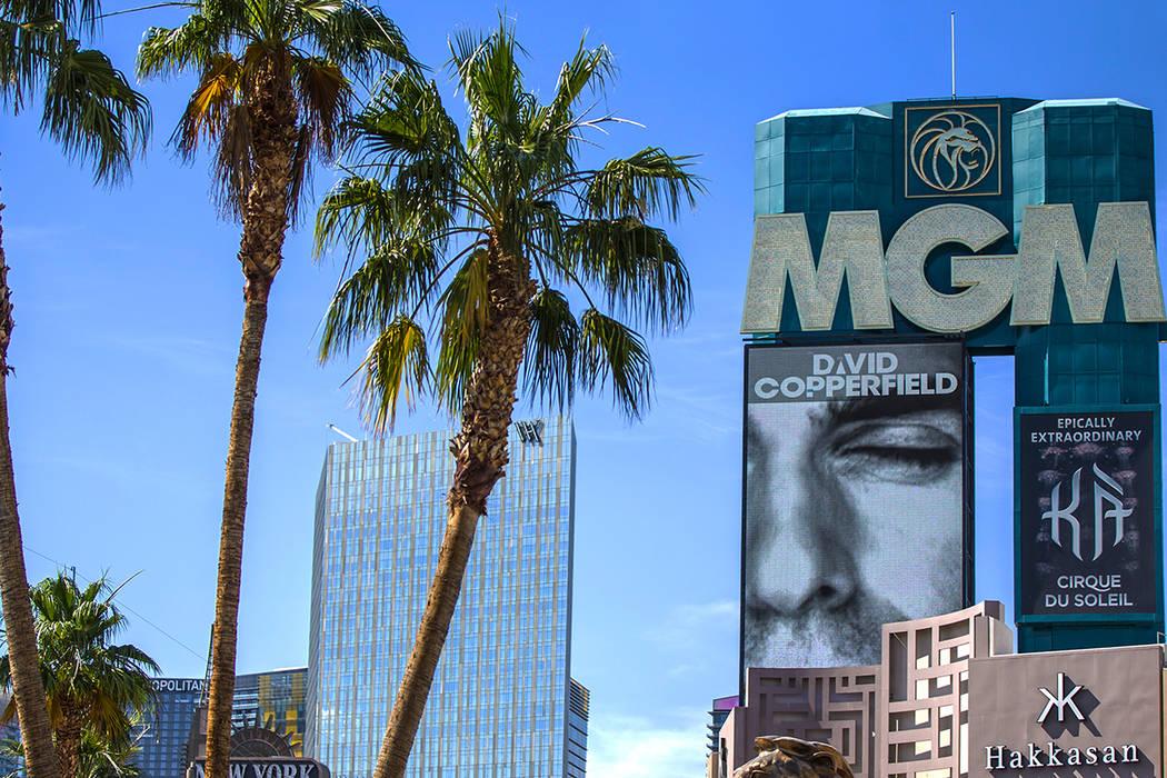 El MGM Grand el miércoles, 12 de junio de 2019 en Las Vegas. (Benjamin Hager/Las Vegas Review- ...