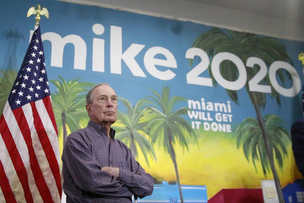 En esta foto del 3 de marzo de 2020, el candidato presidencial demócrata, el ex alcalde de Nue ...